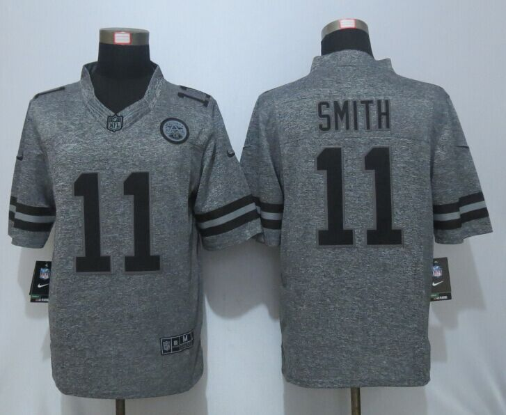 New Nike Kansas City Chiefs 11 Smith Gray Men's Stitched Gridiron Gray Limited Jersey