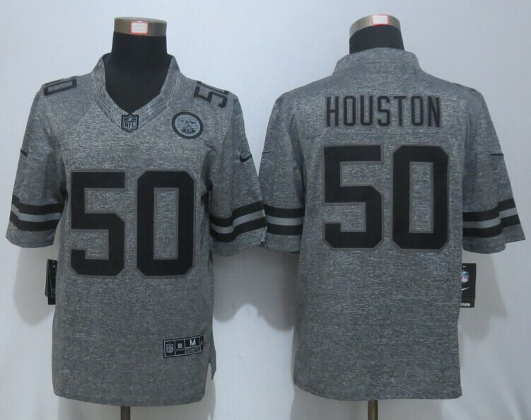 New Nike Kansas City Chiefs 50 Houston Gray Men's Stitched Gridiron Gray Limited Jersey