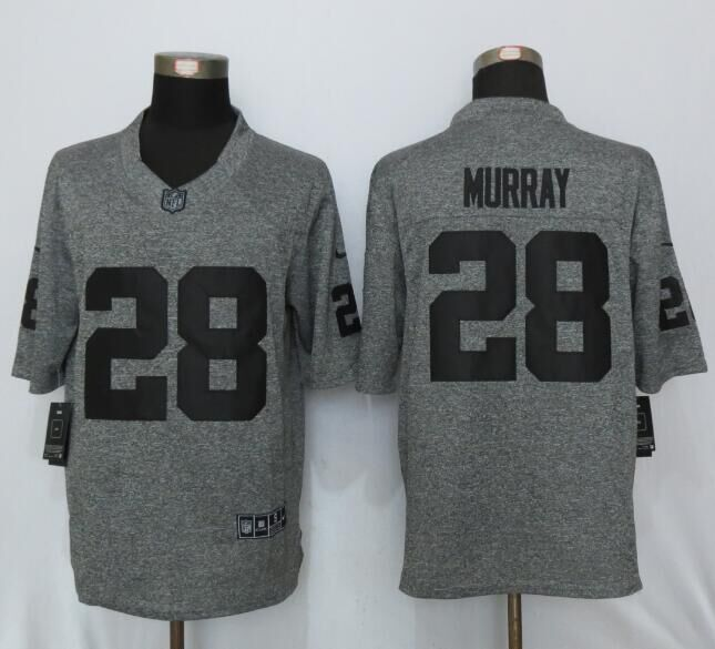 New Nike Oakland Raiders 28 Murray Gray Men's Stitched Gridiron Gray Limited Jersey