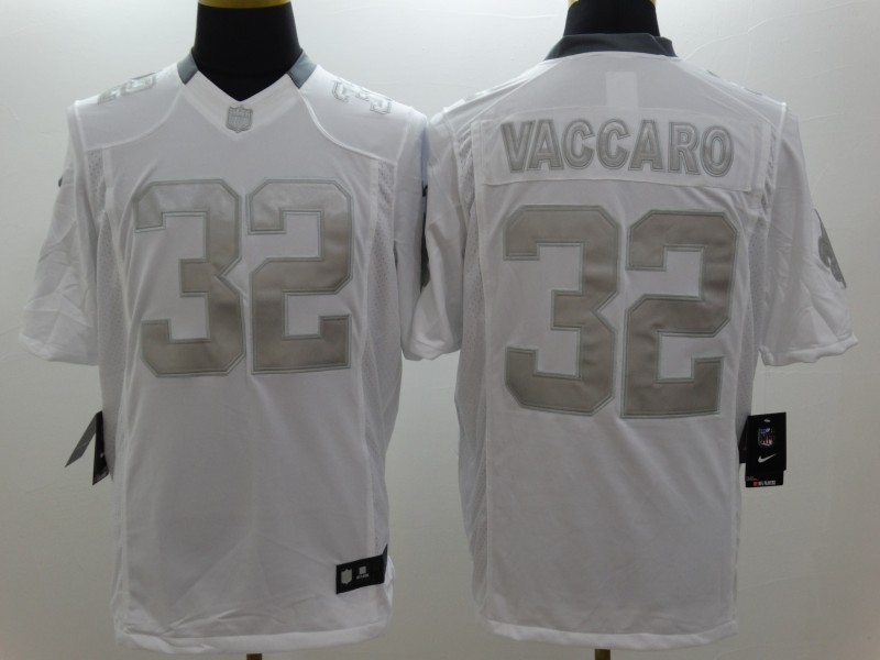 New Orleans Saints 32 Vaccaro Platinum White Nike Limited Jerseys