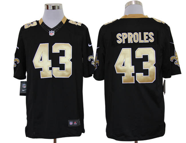 New Orleans Saints 43 Sproles Black Nike Limited Jerseys