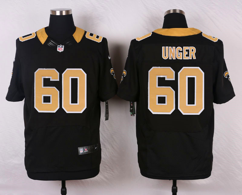 NFL Customize New Orleans Saints 60 unger Black Men Nike Elite Jerseys