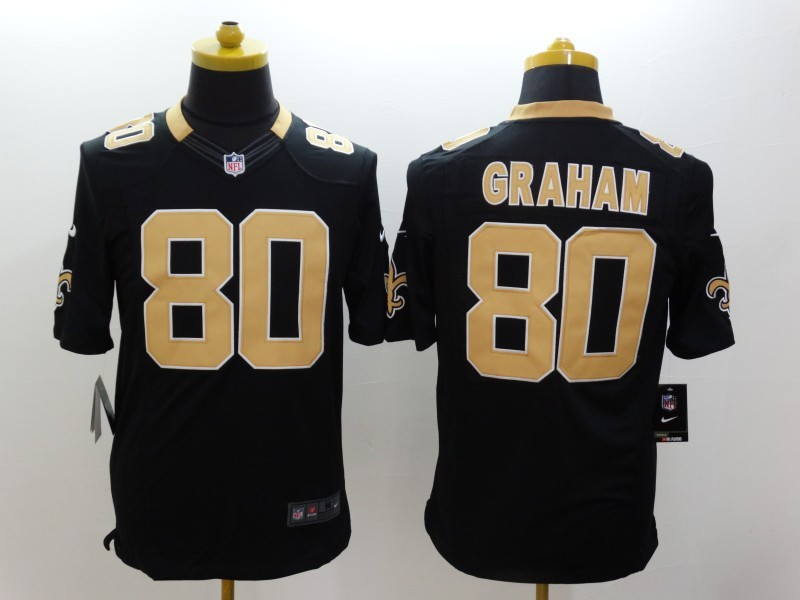 New Orleans Saints 80 Graham Black Nike Limited Jerseys