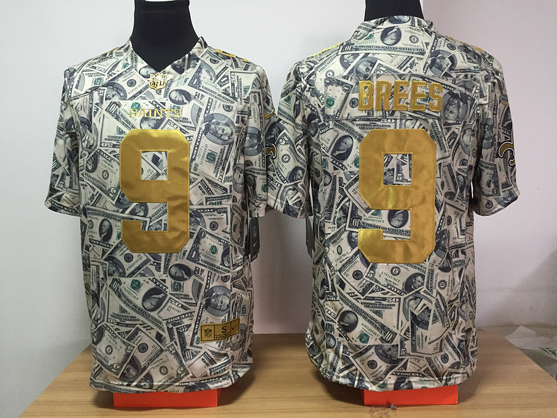 New Orleans Saints 9 Brees Nike USD fashion Edition Jerseys