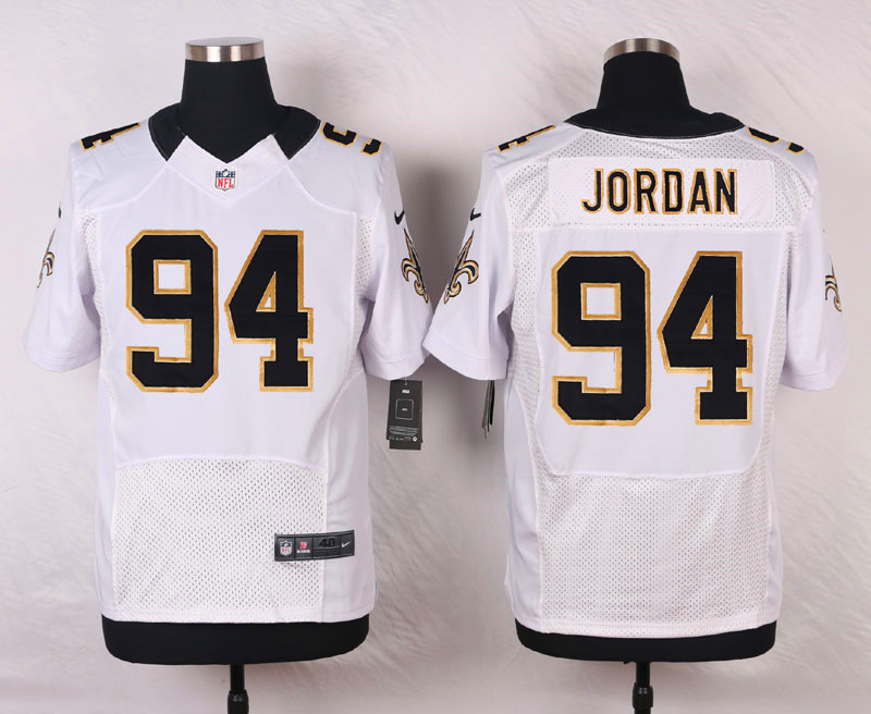 NFL Customize New Orleans Saints 94 Jordan White Men Nike Elite Jerseys