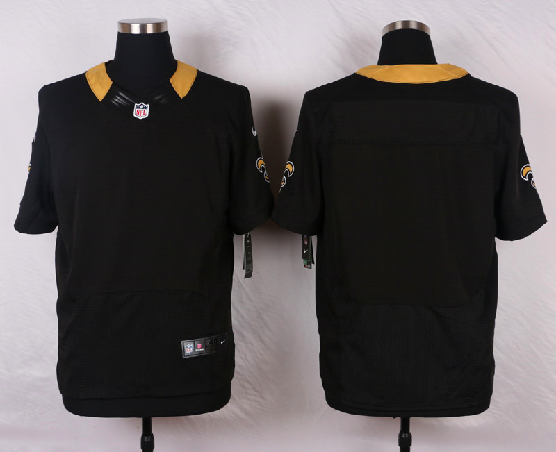NFL Customize New Orleans Saints Blank Black 2015 Elite Nike Jerseys
