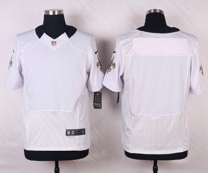 NFL Customize New Orleans Saints Blank white 2015 Elite Nike Jerseys