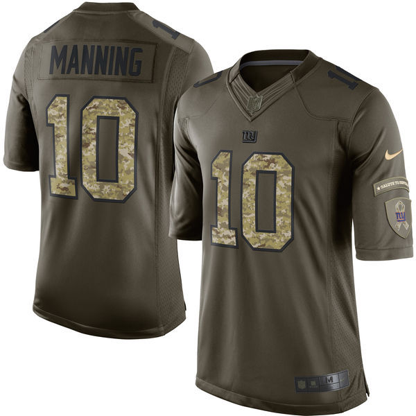 New York Giants 10 Manning Army green 2015 Nike Salute To Service