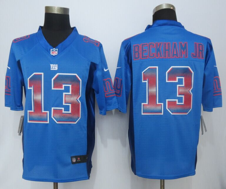 New York Giants 13 Beckham Blue Strobe 2015 New Nike Limited Jersey