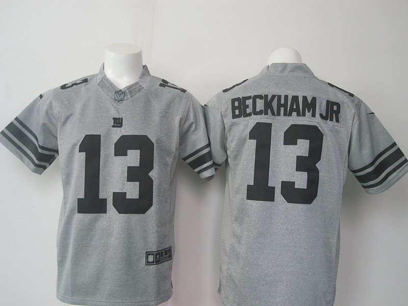 New York Giants 13 Beckham jr Gray Gridiron Gray Limited Jersey
