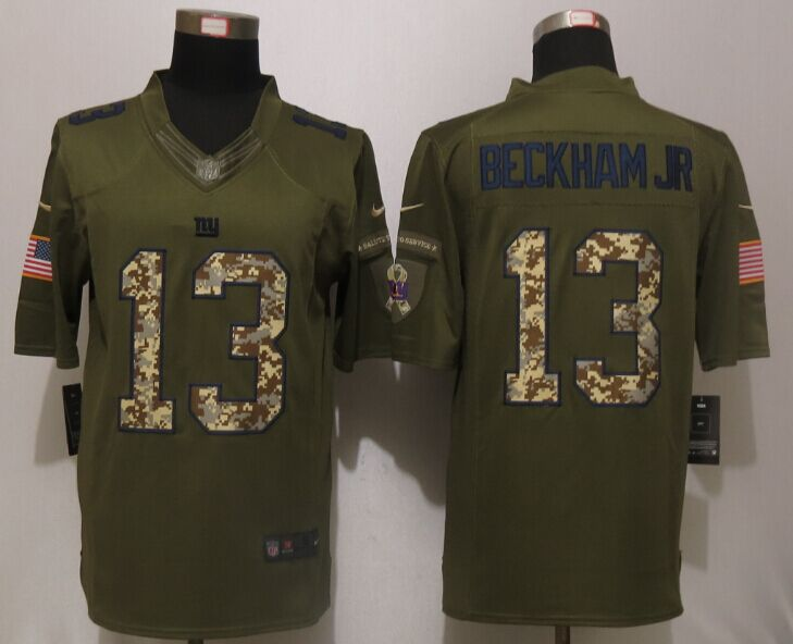 New York Giants 13 Beckham jr Green Salute To Service Nike Limited Jersey