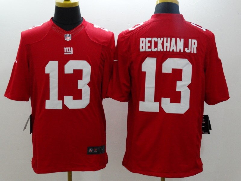 New York Giants 13 Beckham jr Red Nike Limited Jerseys