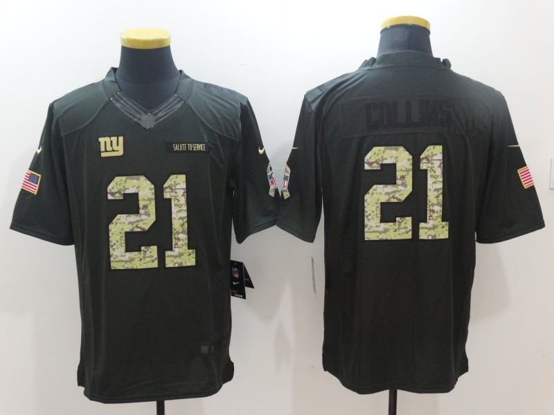 New York Giants 21 Collins 2016 Nike Anthracite Salute to Service Limited Jersey