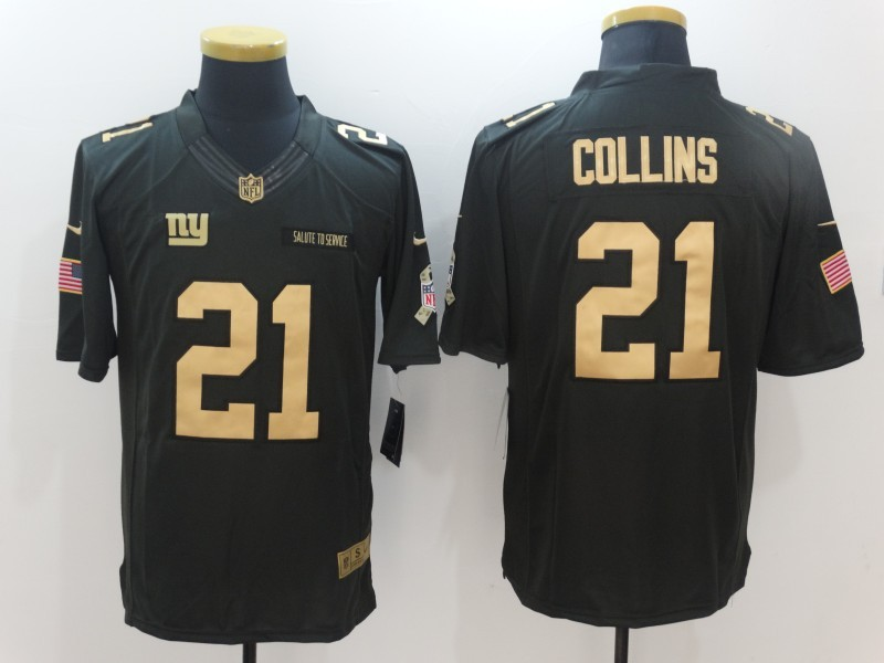 New York Giants 21 Collins Green Nike 2016 christmas gold edition jersey