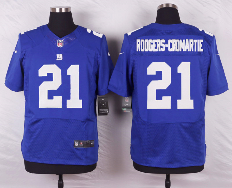 NFL Customize New York Giants 21 Dominique Rodgers-Cromartie Blue 2015 Nike Elite Jersey