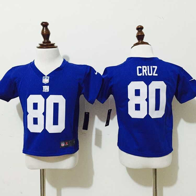New York Giants 80 Cruz Blue Nike baby jerseys