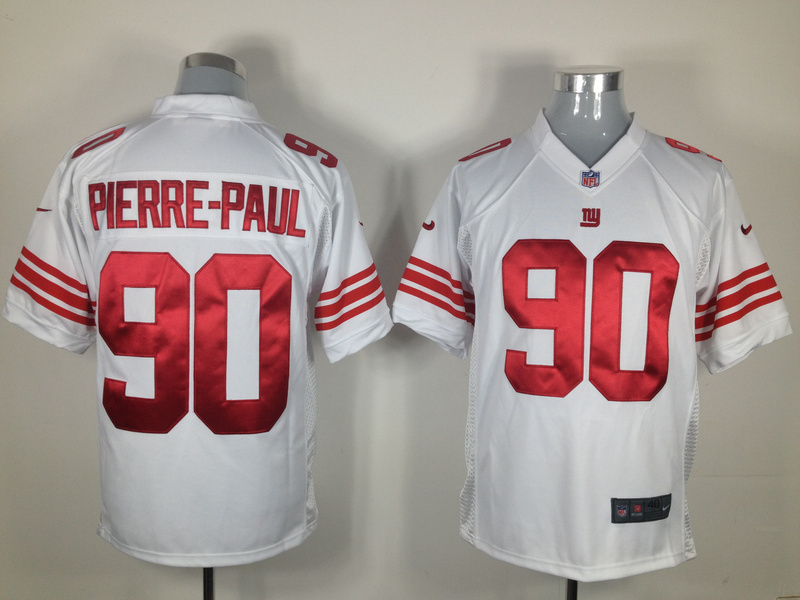 New York Giants 90 Pierre-Paul White Nike Game Jersey