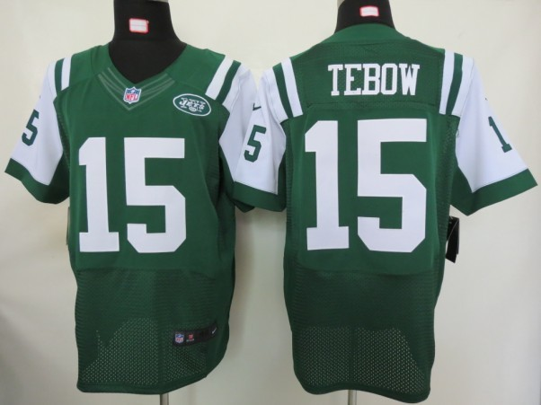 New York Jets 15 Tebow Green Nike Elite Jersey