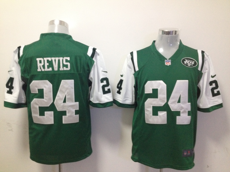 New York Jets 24 Revis Green 2015 Nike Game Jerseys