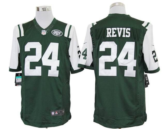 New York Jets 24 Revis Green Nike Limited Jerseys