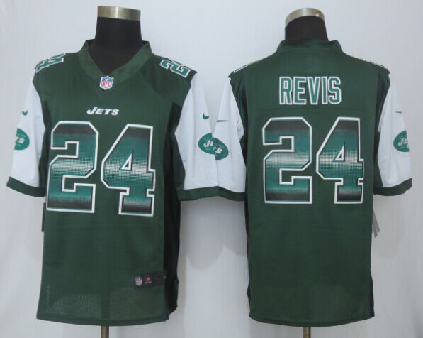 New York Jets 24 Revis Green Strobe 2015 Nike Limited Jersey
