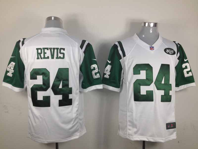 New York Jets 24 Revis White 2015 Nike Game Jerseys