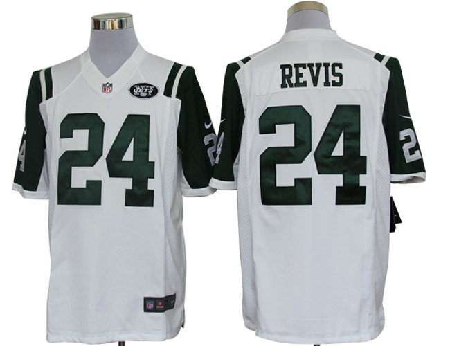 New York Jets 24 Revis White Nike Limited Jerseys