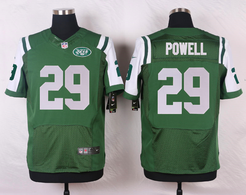 NFL Customize New York Jets 29 Powell Green Men Nike Elite Jerseys