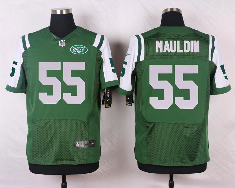 NFL Customize New York Jets 55 Mauldin Green Men Nike Elite Jerseys