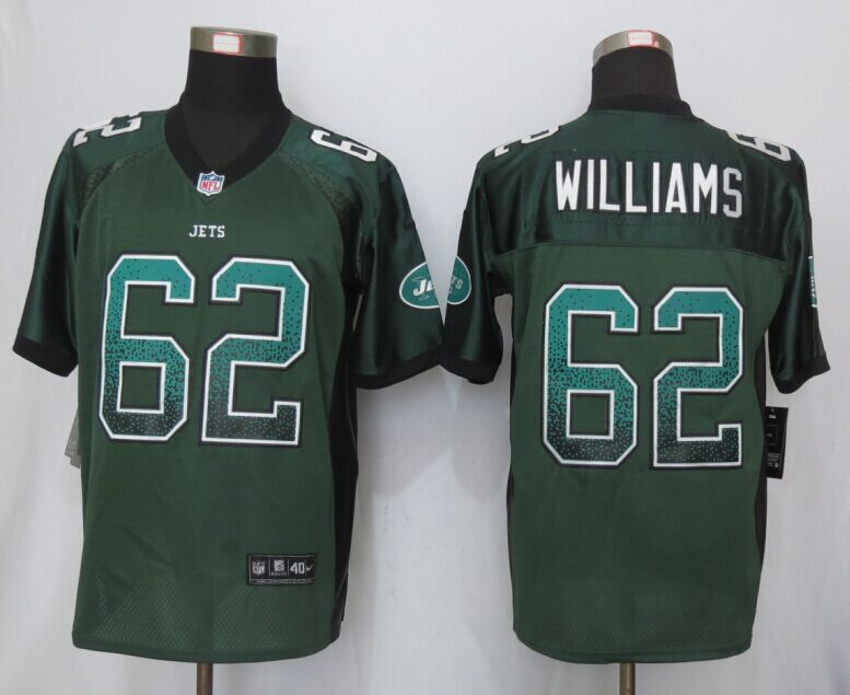 New York Jets 62 Williams Drift Fashion Green New Nike Elite Jerseys