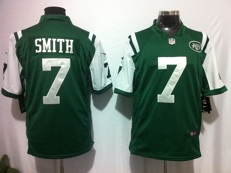 New York Jets 7 Smith Green 2015 Nike Game Jerseys