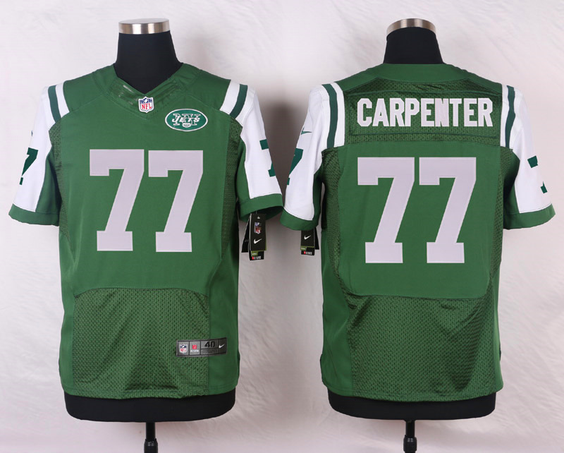 NFL Customize New York Jets 77 Carpenter Green Men Nike Elite Jerseys