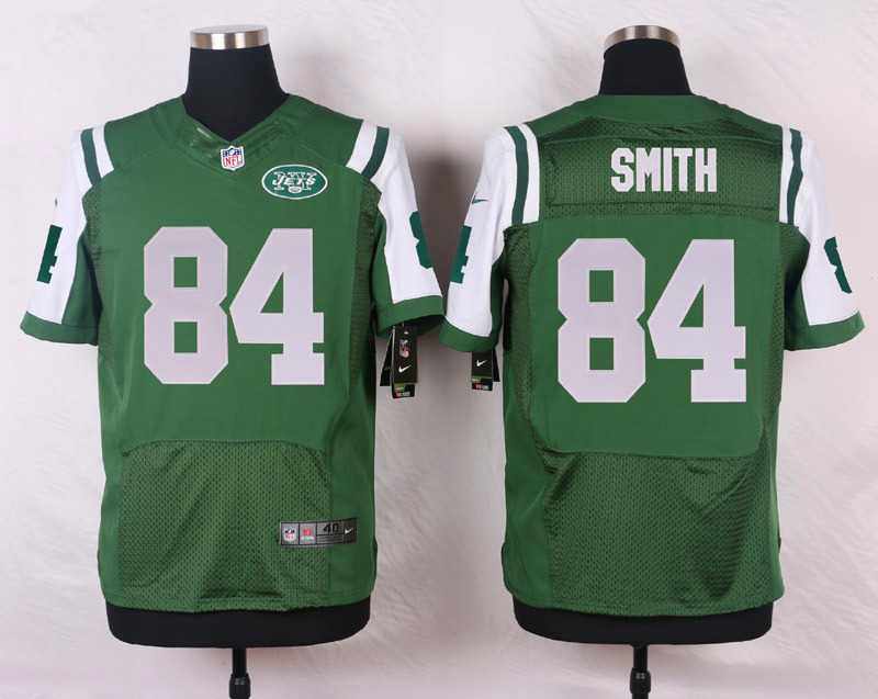 NFL Customize New York Jets 84 Smith Green Men Nike Elite Jerseys