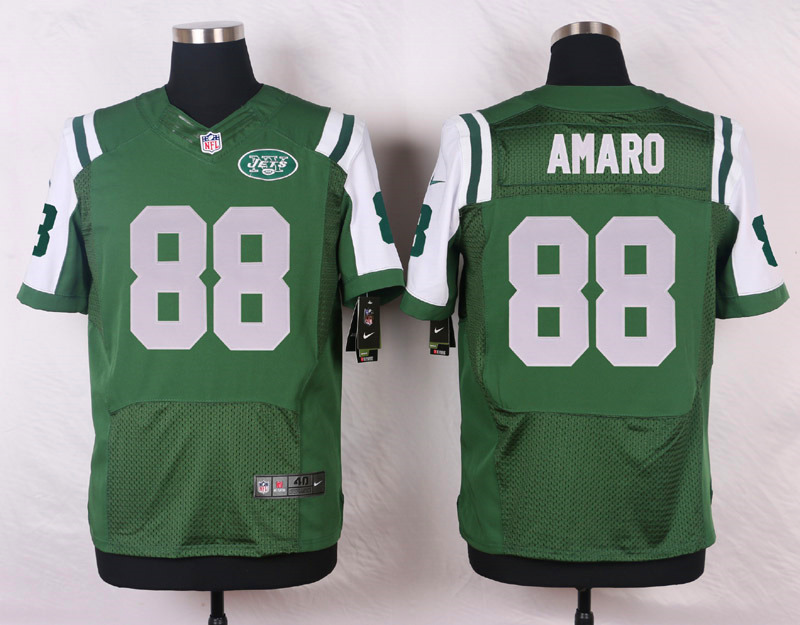 NFL Customize New York Jets 88 Amaro Green Men Nike Elite Jerseys