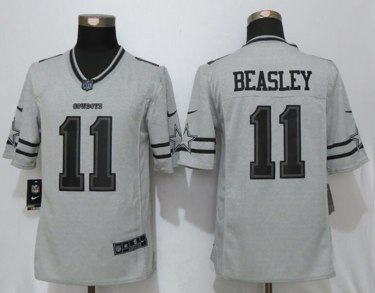 54ee399821d Nike Dallas Cowboys 11 Beasley Nike Gridiron Gray II Limited Jersey