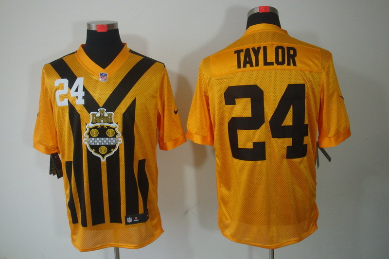 Nike NFL Pittsburgh Steelers 24 Taylor yellow Elite 1993 jerseys