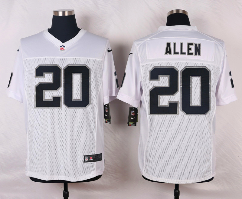 NFL Customize Oakland Raiders 20 Allen White Men Nike Elite Jerseys