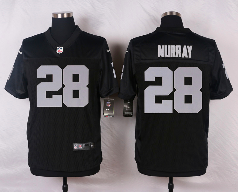 NFL Customize Oakland Raiders 28 Murray Black Men Nike Elite Jerseys