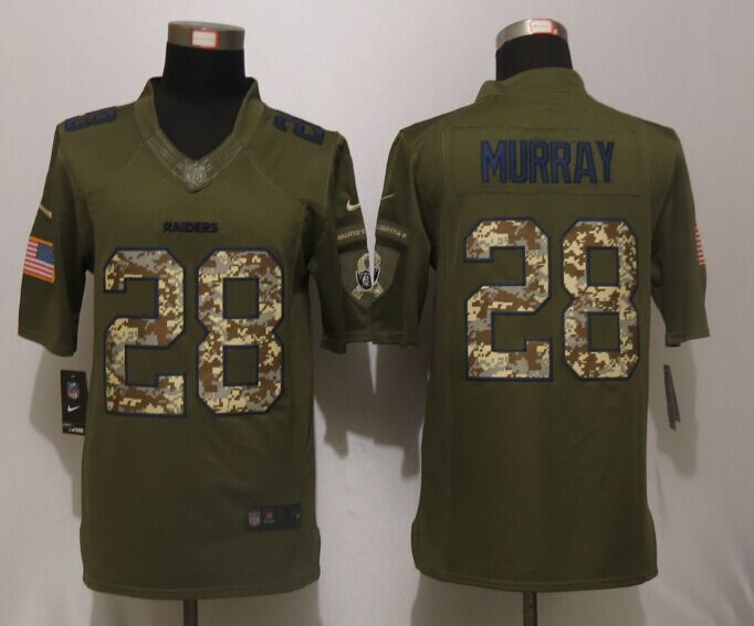 Oakland Raiders 28 Murray Green Salute To Service New Nike Limited Jersey