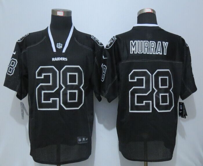 Oakland Raiders 28 Murray Lights Out Black New Nike Elite Jerseys