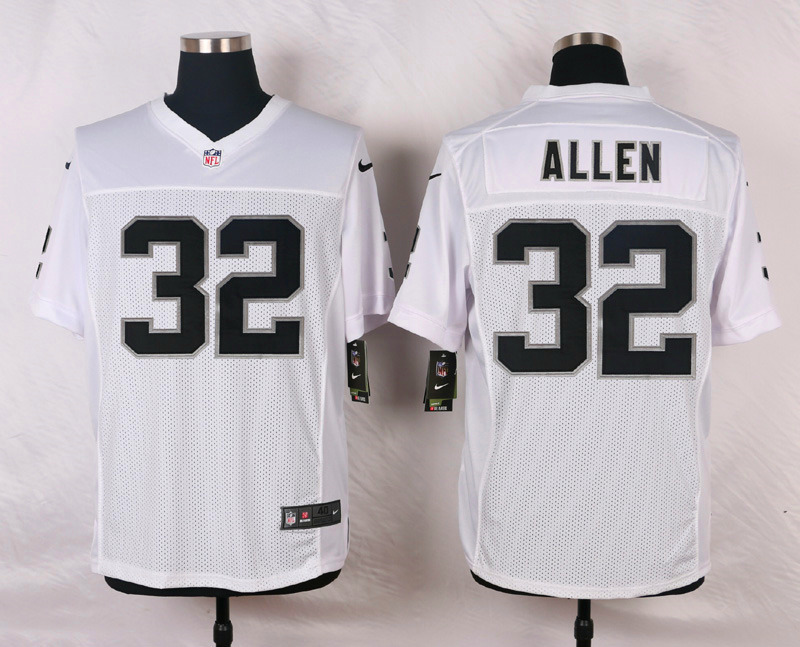 NFL Customize Oakland Raiders 32 Allen White Men Nike Elite Jerseys