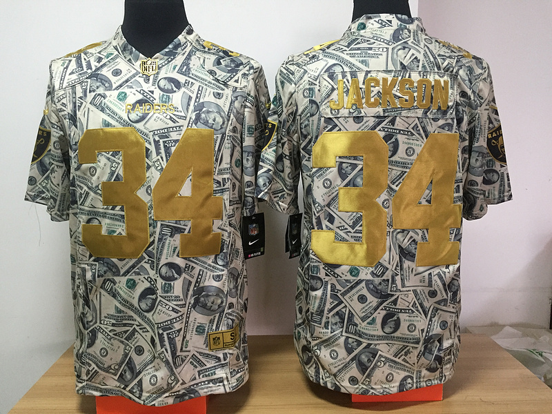 Oakland Raiders 34 Jackson Nike USD fashion Edition Jerseys