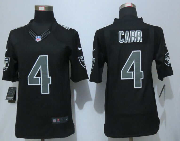 Oakland Raiders 4 Carr Impact Limited Black New Nike Jerseys