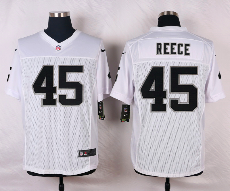 NFL Customize Oakland Raiders 45 Reece White Men Nike Elite Jerseys