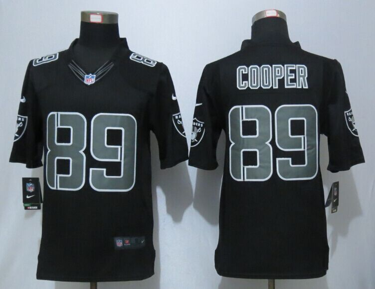 Oakland Raiders 89 Cooper Impact Limited Black New Nike Jerseys