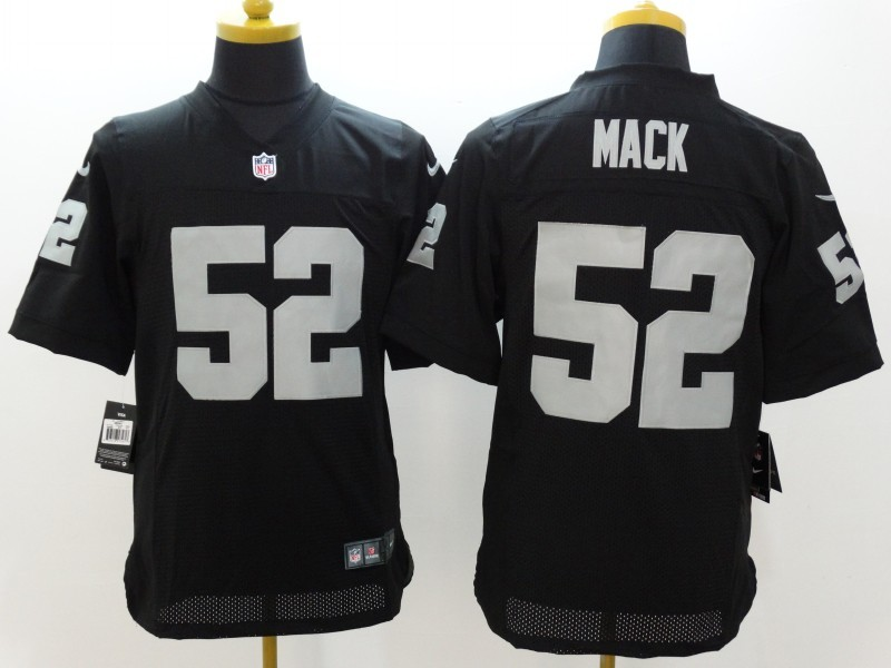 Okaland Raiders 52 Mack Black Nike Elite Jerseys