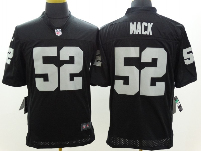 Okaland Raiders 52 Mack Black Nike Limited Jerseys