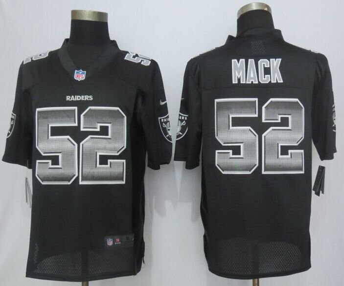 Okaland Raiders 52 Mack Black Strobe 2015 New Nike Limited Jersey