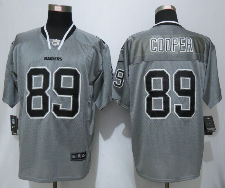 Okaland Raiders 89 Cooper Lights Out Grey New Nike Elite Jerseys