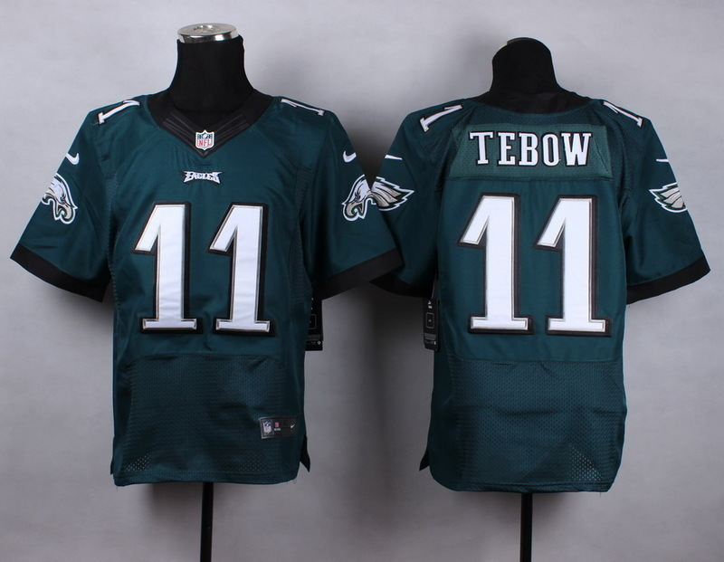 Philadelphia Eagles 11 Tebow Green New Men Nike Elite Jerseys